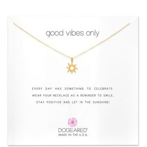 Dogeared Good Vibes Only Sunshine Necklace